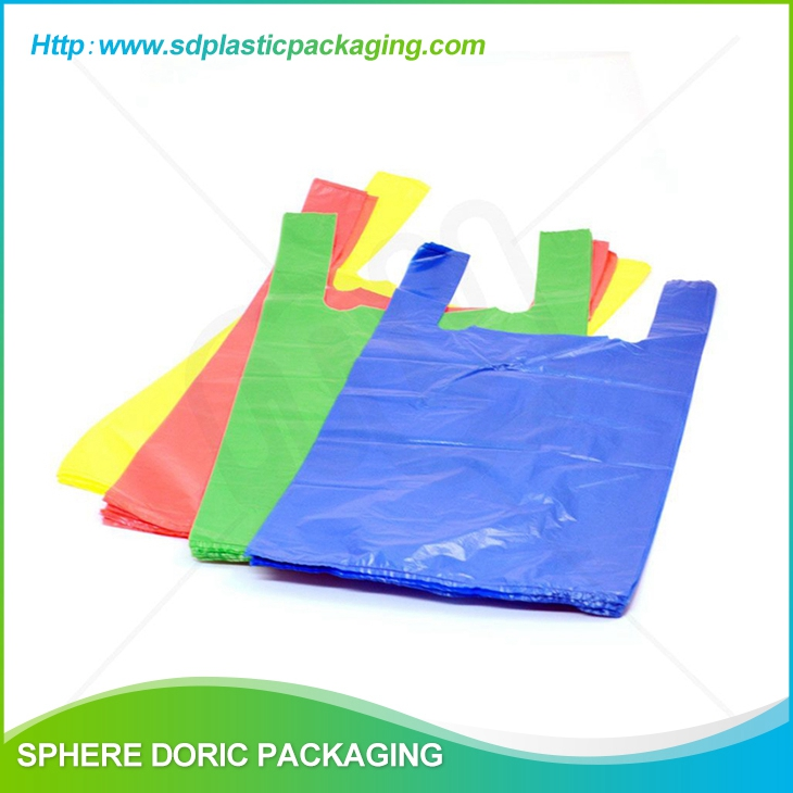 HDPE or LDPE color t-thirt bags